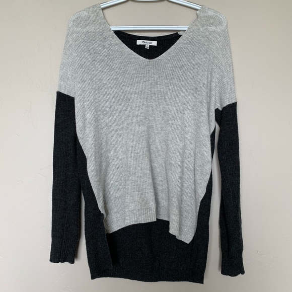 Madewell Sweaters - Oversized color block sweater